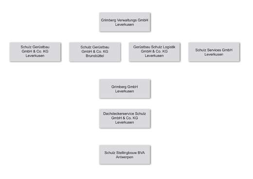 Aufbau Firmenstrukturen Schulz Gruppe